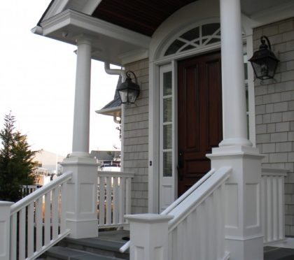 Intex exterior railing