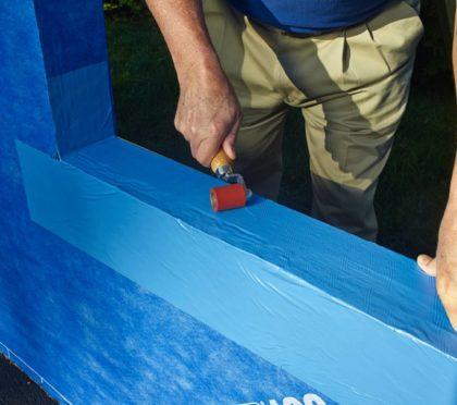 Henry Blue Skin installaton