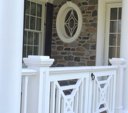 Intex exterior railing detail