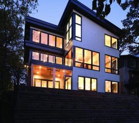 Andersen windows night view