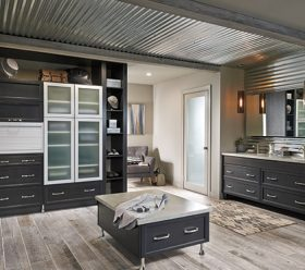 Aurora Templeton Charcoal Bathroom Cabinets by Kitchen Craft