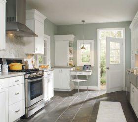 Brellin White Laminate Kitchen Cabinets