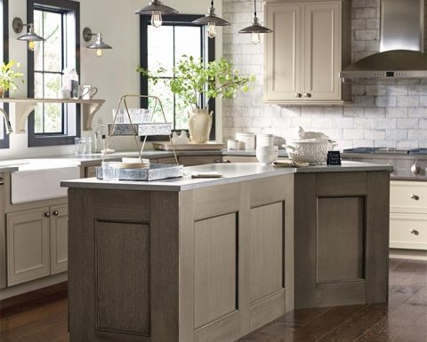 Decora Taupe Kitchen Cabinets