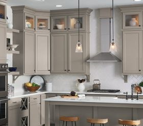 Lillian Gray Laminate Kitchen Cabinets