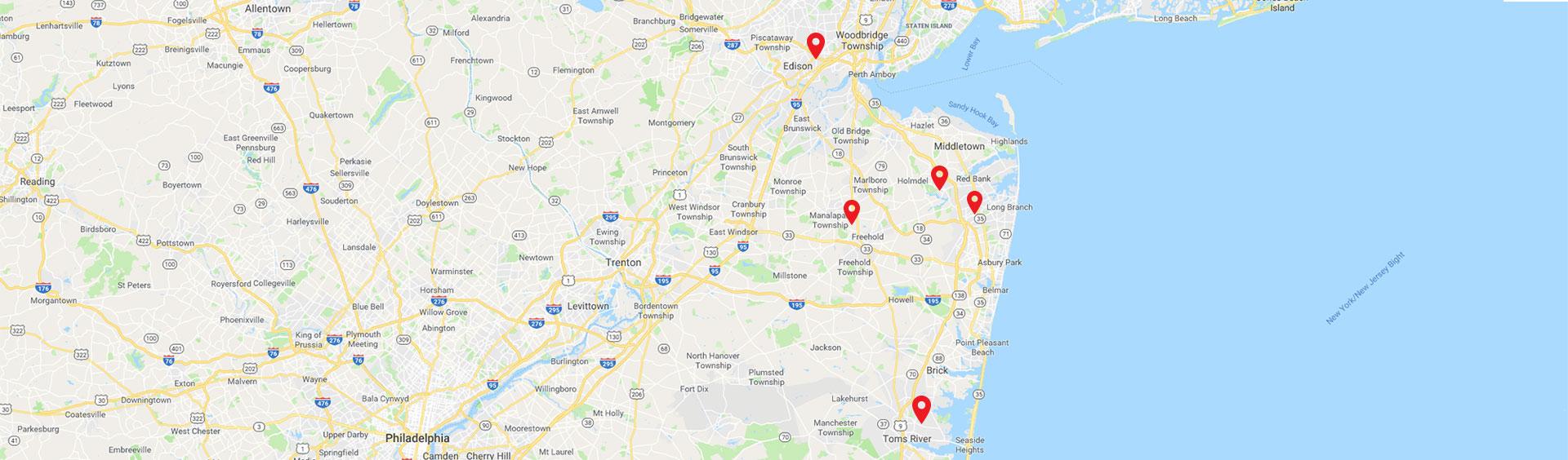 Builders' General Map Locations