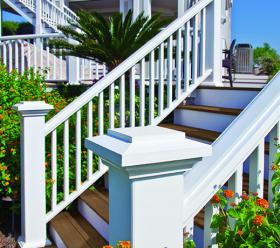 Timbertech deck outdoor steps
