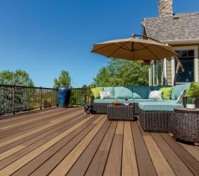 Timbertech durable wood deck designs