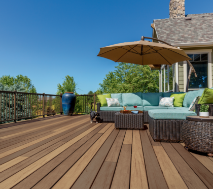 Timbertech durable wood deck designs
