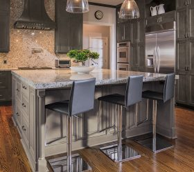 Traditional Lexington Gray Kitchen Cabinets by Kitchen Craft