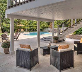 TREX outdoor pool decking