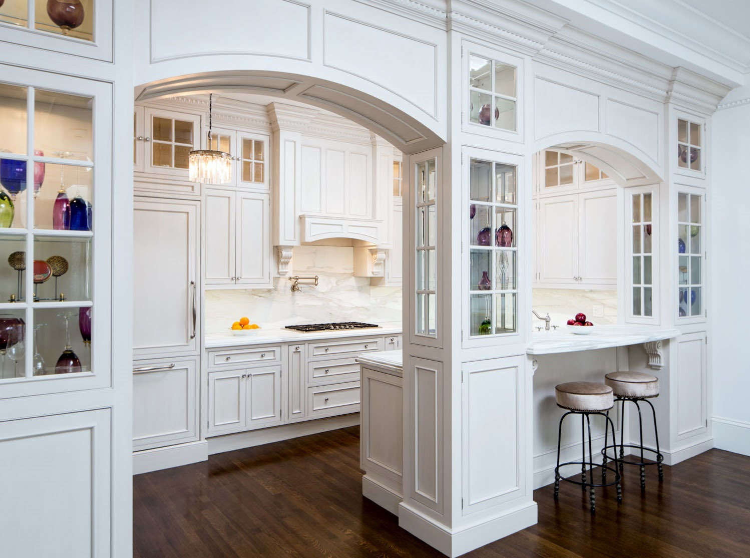 Old White Cabinets Kitchen