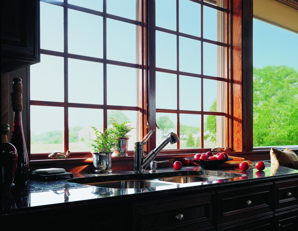 Over Sink Kitchen View build with Andersen 400 Series Casement Windows